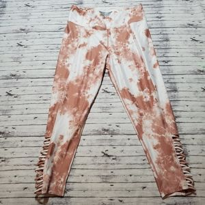 Betsey Johnson Leggings Large L Marbled Athletic